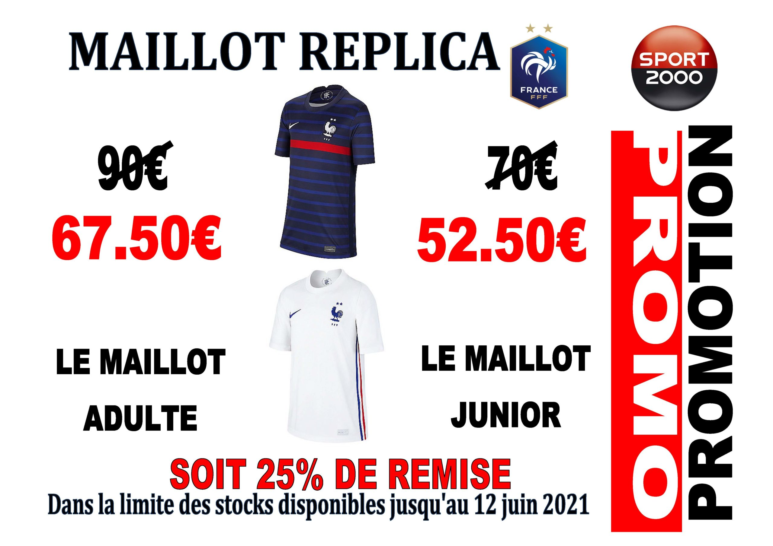 PROMO MAILLOTS FFF